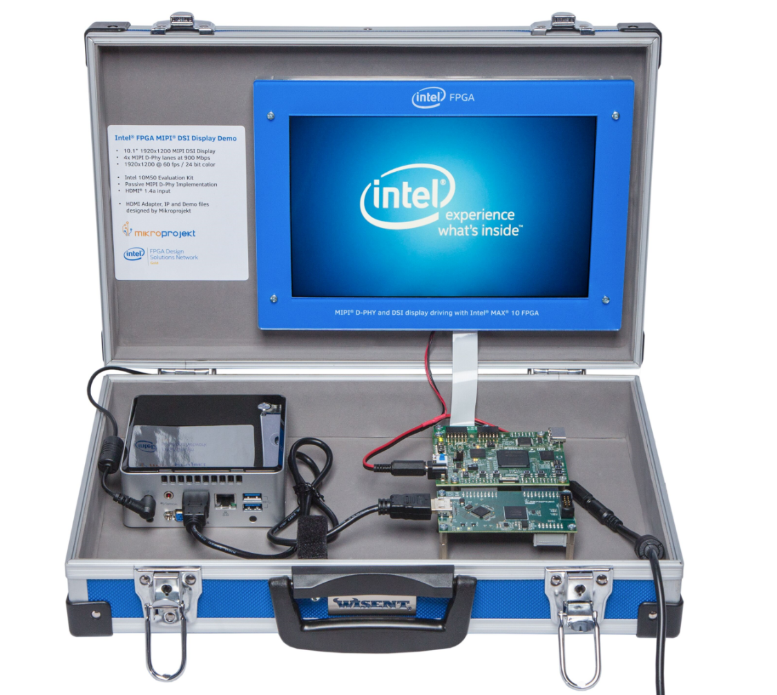 Intel MAX 10 MIPI Display Kit Suitcase